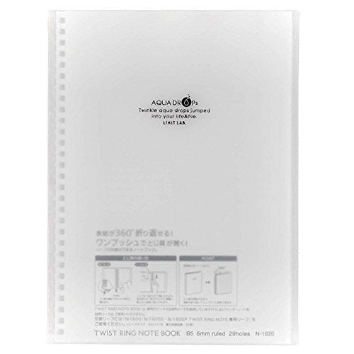 Lihit Lab Aqua Drops - Lihit Lab., Inc. twist ring notebook Aqua Drops N1620-1 milky white