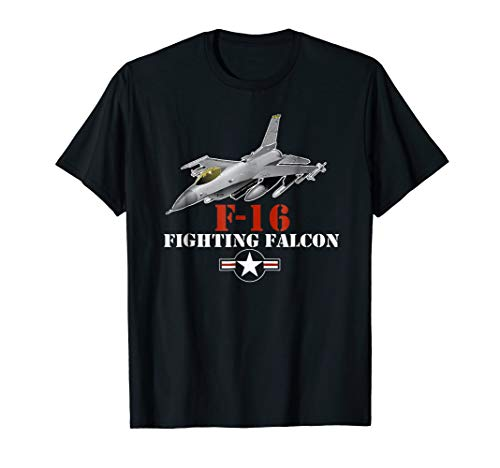 F-16 Shirt Military Air Force F16 Fighter Jet T-shirt
