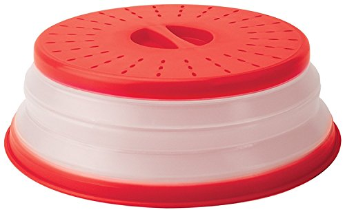 - Tovolo Vented, Easy Grip, Collapsible Microwave Cover, 10.5 Inch, Red