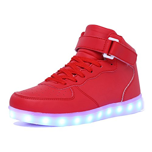 CIOR Kids Boy and Girl's High Top Led Sneakers Light Up Flashing Shoes(Toddler/Little Kid/Big (11 More Days Until Halloween)
