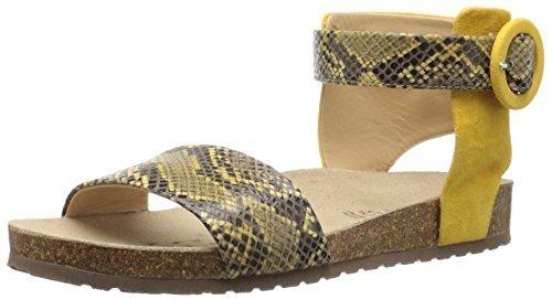 Geox Women's D Zayna Gladiator Sandal Ochre Yellow
