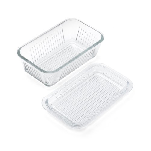 (Gemco 5078594 Multi Function Butter Dish, Clear)