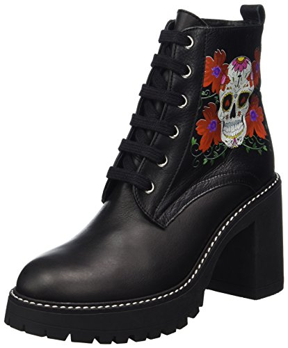 Buffalo London 4141 Salvaje Stivali Donna Nero negro 01