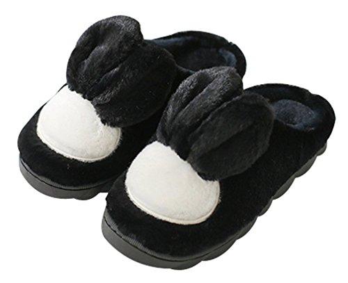Dessin Animé Féminin Chaud Maison Intérieure Pantoufles De Lapin Mignonnes Pantoufles Noir