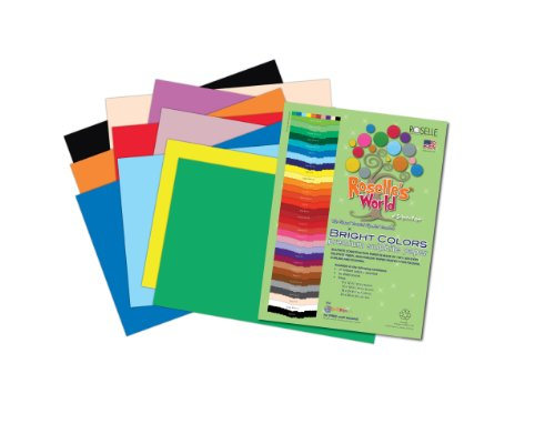 Roselle Bright Colors Suphite Construction Paper, 9 x 12 Inches, Assorted, 50 Sheets Per Package (76401)