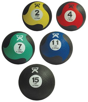 Cando Rubber Medicine Ball - 5 Piece Set
