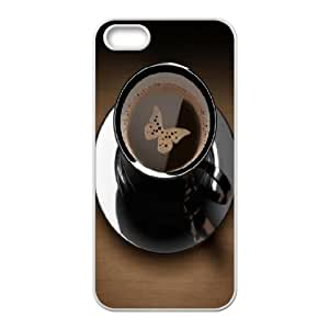 For SamSung Galaxy S6 Phone Case Cover Coffee Butterfly Black Cup Hard Shell Back White For SamSung Galaxy S6 Phone Case Cover 320070