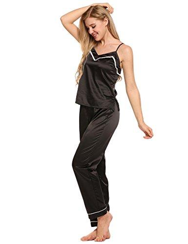 Ekouaer - Pijama - para mujer negro