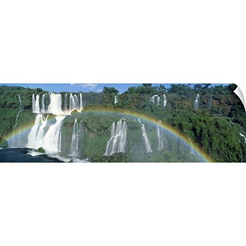 Iguacu National Park - CANVAS ON DEMAND Wall Peel Wall Art Print Entitled Brazil, Iguacu National Park, Iguacu Falls, Rainbow 36