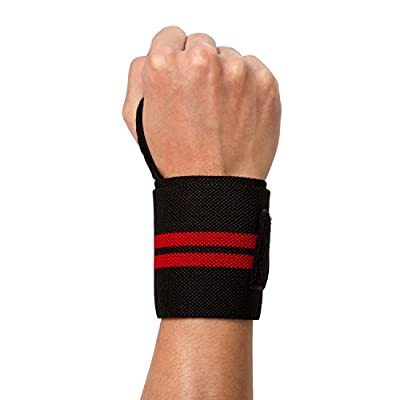 "Adjustable 18"" Wrist Wraps, Wrist Straps Support Braces Belt for Weightlifting Powerlifting Bodybuilding CrossFit with Thumb Loop, for Men and Women"