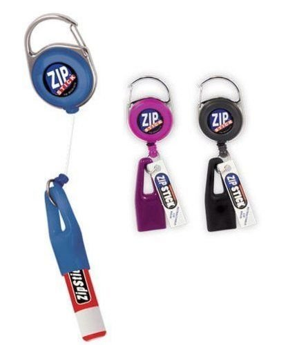 Zip Stick Retractable Lip Balm Holder (Single- Assorted Colors) Chapstick Holder