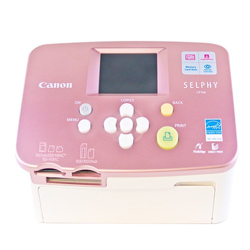 Canon Selphy CP760 Pink Compact Photo Printer (3255B001) by Canon (Image #1)
