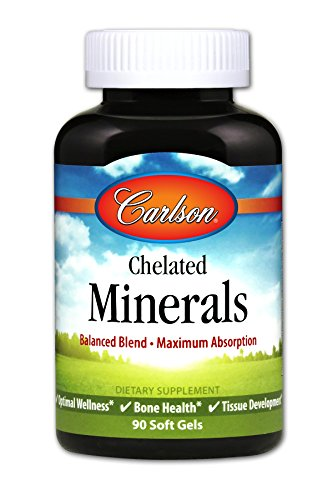 (Carlson Chelated Minerals, Multiple Mineral Support, 90 Soft Gels)