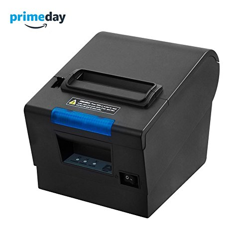 3'1/8 80mm Thermal Receipt Printer, MUNBYN POS Printer with Auto Cutter, USB Serial Ethernet Windows Mac Driver ESC/POS RJ11 RJ12 Cash Drawer