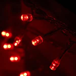 DASHUHUWAI (TM)30 LED Battery Operated String Lights Warm White Christmas Lights Fairy new year decoration (red)