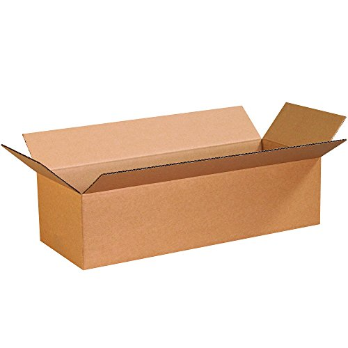 BOX USA B249675PK Corrugated Boxes, 24'' L x 9'' W x 6'' H, Kraft (Pack of 75) by BOX USA