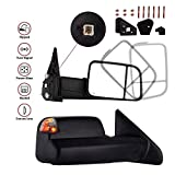 MOSTPLUS Towing Mirror For 1998-2002 Dodge Ram Power Heated Mirror w Turn Light)