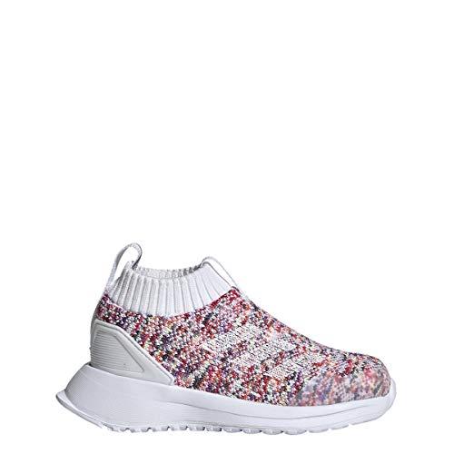 Adidas Originals RapidaRun - Zapatillas de Running para niños, Blanco/Blanco/Gris, 15.5 MX K M Niñito
