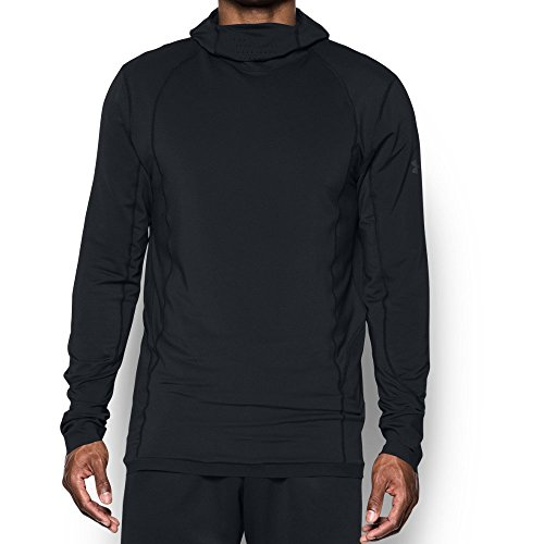 - Under Armour Men's ColdGear Reactor Run Balaclava Hoodie,Black (001)/Reflective, Large