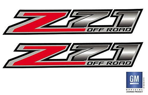 EmblemsPlus 2014 2015 2016 2017 Chevy Colorado Truck Z71 Off Road Bed Side Decals Stickers Set of (2) GM Official Licensed Product (Road Bed Sides Off)