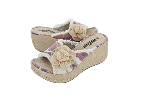 Ladies Casual Wedge Shoe with Pink Camo (Helens Heart)