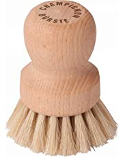 HOFMEISTER® svampborste med elegant hästhårtrimning, 7,7 cm, lämplig för alla svampar, försiktigt borsta svampar, rengör svamp torr från sand, tillverkad i Tyskland, tillverkad i EU bok trä