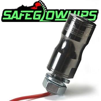 ATV 4/' Foot ORANGE Fiber Optic SafeGlo Lighted Whip w// Flag Sand Rail UTV