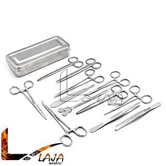 LAJA Imports Scalpel Handle #3#4#7 with Gold Plated Dental Veterinary Instruments