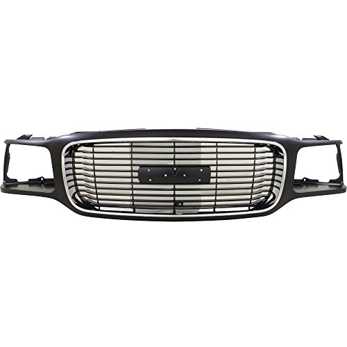 Grille for GMC GMC Yukon 92-00 Chrome and Black W/Denali Package
