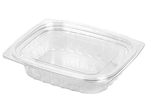 - Dart C8DCPR, 8-Ounce ClearPac Clear Rectangular Plastic Container With A Flat Lid, Take Out Deli Fruit Food Disposable Containers (50)