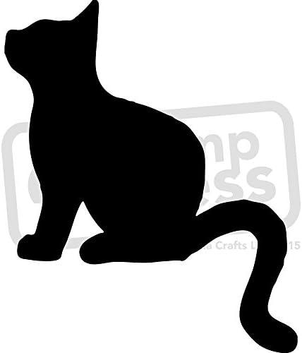 A4 Silueta del Gato Plantilla de Pared / Estarcir (WS00003065): Amazon.es: Juguetes y juegos