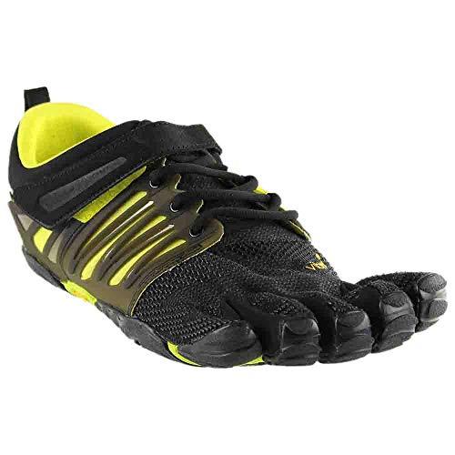 Vibram Men's V-Train Cross-Trainer Shoe, Black/Green, 41 EU