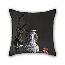 The Oil Painting Frederick S. Dellenbaugh (American - Still Life With Ornate Chinese Vase Pillowcase Of 20 X 20 Inches / 50 By 50 Cm Decoration Gift For Home Office Festival Bench Living Room Fest