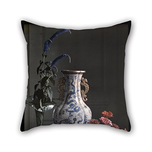 The Oil Painting Frederick S. Dellenbaugh (American - Still Life With Ornate Chinese Vase Pillow Shams Of 20 X 20 Inches / 50 By 50 Cm Decoration Gift For Family Deck Chair Girls Wedding Floor Bed for $<!--$11.99-->