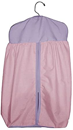 BabyDoll Solid Reversible Diaper Stacker, Grey/Pink baby Doll Bedding 500DS