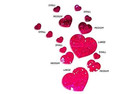 Pareti Glitterate Fai Da Te : Jcm glitterheart glitter love adesivi da parete a forma di cuore