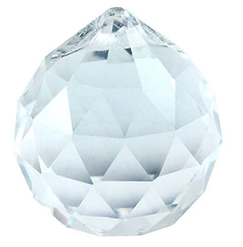 5 Pieces - Asfour Crystal 40mm Large Ball Crystal chandelier Parts Suncatcher 30%Lead 701-40 1 hole