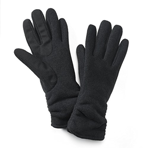 Womens Apt. 9 Sweater-Knit Tech Touchscreen Compatible Gloves (Black, L-XL) from Apt 9