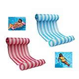 LEZHI 2-pack(Pink,blue) Premium Swimming Pool Float Hammock, Comfortable Inflatable Swimming Pools Lounger, Water Hammock Lounge