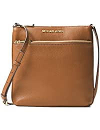 Riley Small Flat Leather Crossbody - Acorn