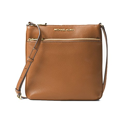 Michael Kors Riley Small Flat Leather Crossbody - Acorn by Michael Kors