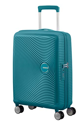 American Tourister Soundbox – Spinner Small Expandable Hand Luggage, 55 cm, 41 liters, Green (Jade Green)