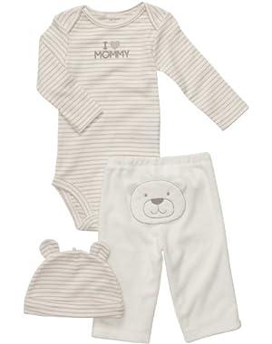 Unisex Baby 3 Pc Terry Pant Set