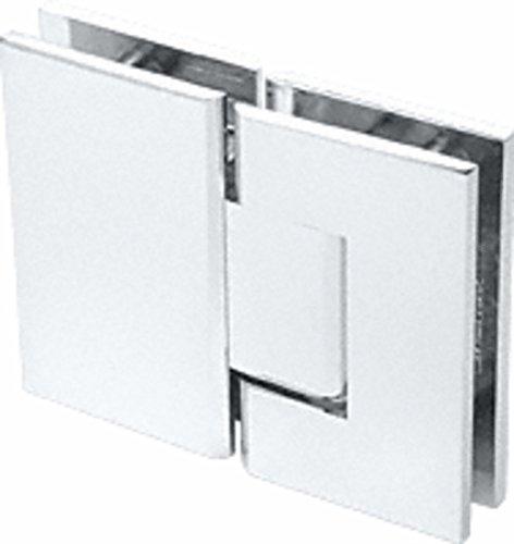 CRL Geneva 580 Series Satin Chrome 180186; Glass-To-Glass Hinge with 5186; Offset