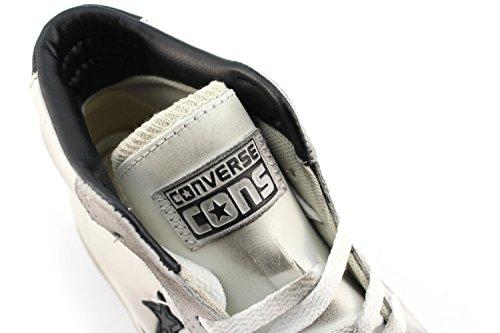 Converse Pro Cuir Vulc Mid Blanc Noir Turtledove 155096c (40.5)