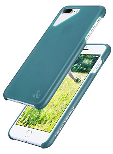 - Amber & Ash Ultra Slim Case Compatible with iPhone 8 Plus & iPhone 7 Plus 5.5 Inch (2016-2017) - 2-Layer Semi-Transparent Protection, Anti-Shock, Anti-Slip - [Night Forest Green]
