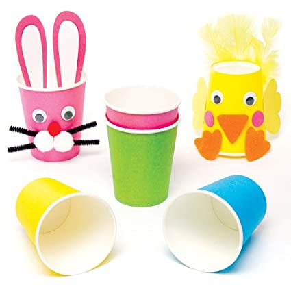Amazon Com Baker Ross Colored Paper Cups For Children To Decorate