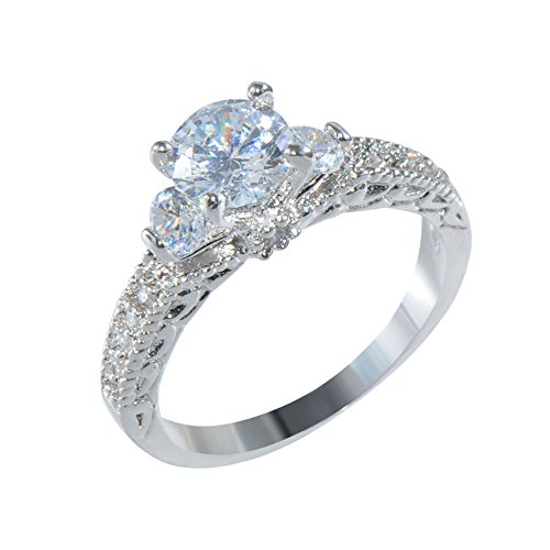 jacob alex ring 3.5mm Ring Size6 Silver CZ