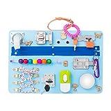 Montessori busyboard Busy Board- Sensory Board - Study Board -Wood Board - Activity Board Locks and latches Activity Board - 12-60 Month