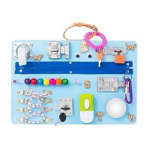 Amazon.com: Montessori busyboard Busy Board- Sensory Board ...